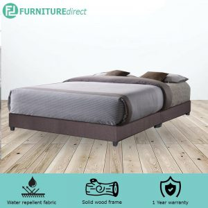 TAD AMIRA water repellent fabric divan king bed base - brown