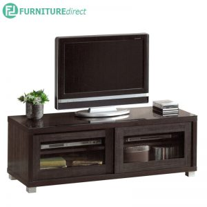 TAD LYNDA 4 feet TV cabinet with glass door - Wenge