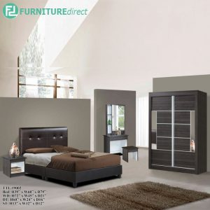 TAD 19002 EUGENE 5 pieces bedroom furniture set - queen size - wenge