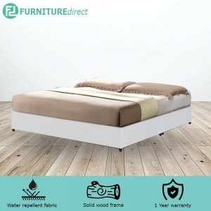 TAD GIOVANNI waterproof PVC divan king bed base - white