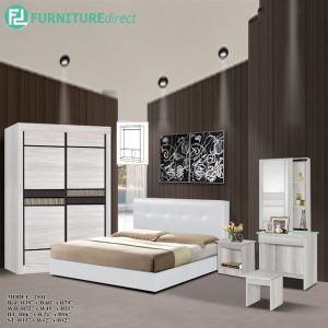 TAD 1501 SAVILLE 5 pieces bedroom furniture set - queen size -cream