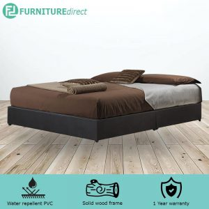 TAD GIOVANNI waterproof PVC divan queen bed base - dark brown