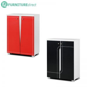 TAD NABILA 2 door shoe rack cabinet - Red and Black