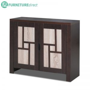 TAD HALIM 2 door shoe rack cabinet - wenge