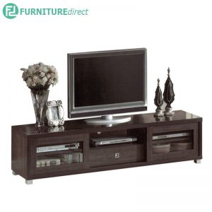 TAD LYNDA 6 feet TV cabinet with glass door - Wenge