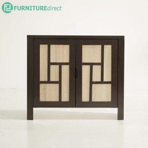 TAD HALIM 2 door shoe rack cabinet - wenge
