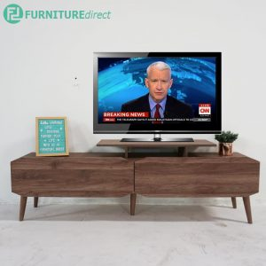 TAD MAJA 5 feet TV cabinet with 2 drawers - Walnut