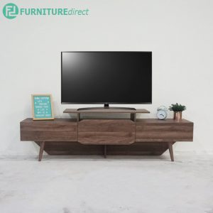 TAD MAJA 6 feet TV cabinet with 2 drawers - Walnut