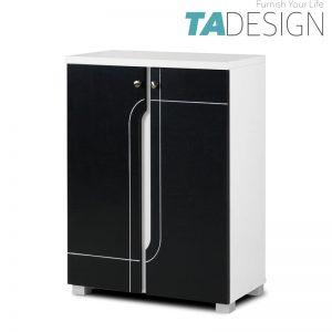 TAD NABILA 2 door shoe rack cabinet - Black