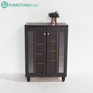 TAD JORDAN 2 door shoe rack cabinet - Wenge