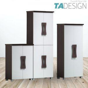 TAD STACEY 2 and 4 doors shoe rack cabinet-White