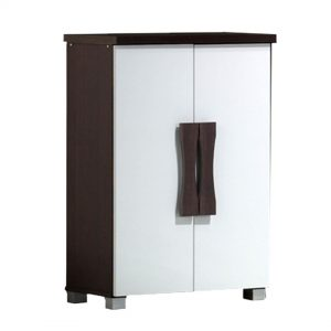 STACEY 2 door shoe cabinet with wooden handle