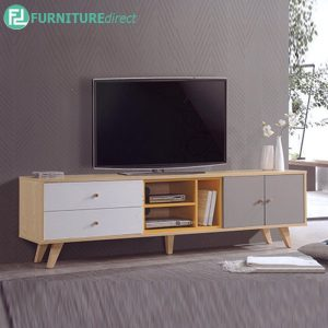 BANANA LEAF 6FT TV CABINET - Solid Rubberwood