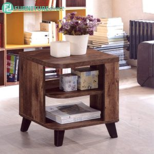 TEXAS SIDE TABLE - Particle Board - Cappuccino
