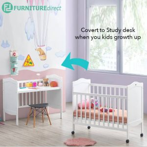 1781 baby cot convert to study desk
