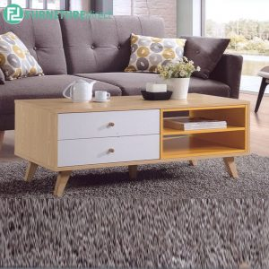 BANANA LEAF COFFEE TABLE - Solid Rubberwood