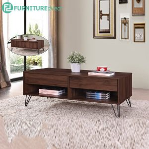 TRIANGLE COFFEE TABLE - Particle Board - Cappuccino