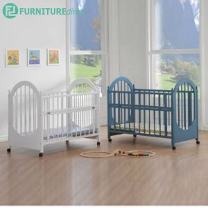 BC55 drop side solid wood baby cot-3 colors