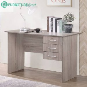 DS8588 study desk with 3 drawers and key lock-oak