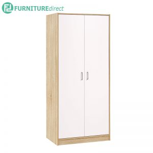 ECLIPE 2 door wardrobe-oak color