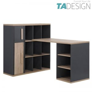 KOBI study desk with bookcase