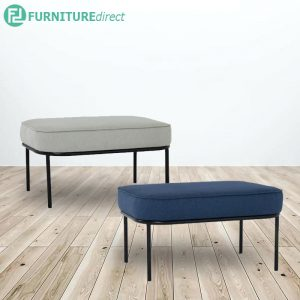 TRAX 80x60cm fabric Ottoman - 2 colors
