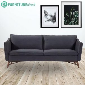 WILLARD 3 seater fabric sofa with solid wood legs- 3 colors