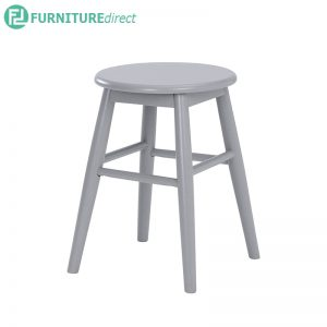 OLINA Stool (Height 44.5cm) - White, Light Blue and Light Grey - Particle board