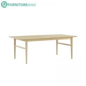 HAMPTON Dining table with extendable table - Full Solid Rubberwood