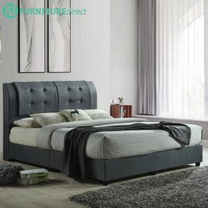 CARSON queen size divan bed frame-Grey