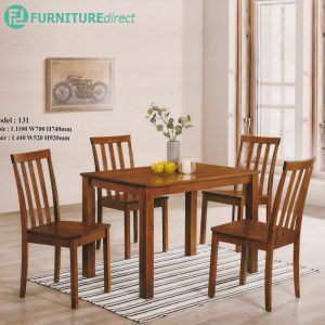 ELIZA 4 seater solid wood dining set-Cherry