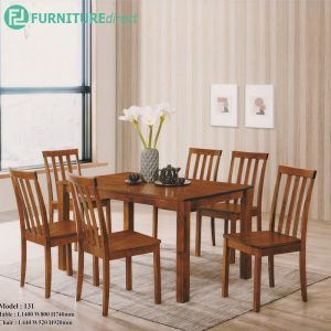 ELIZA 6 seater solid wood dining set-Cherry
