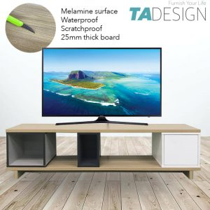TAD Flexi 4 and 5 feet Melamine TV console table TV cabinet