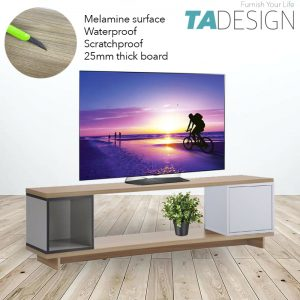 TAD Flexi II 4 and 5 feet Melamine TV console table TV cabinet