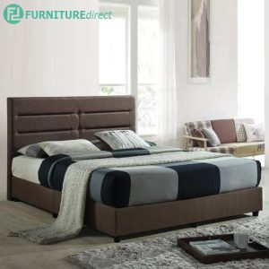 HADLEY queen size divan bed frame-brown