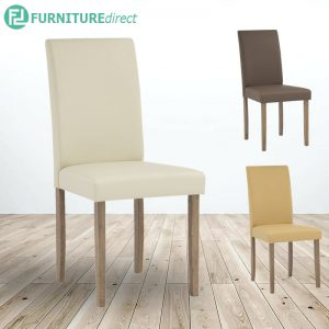 LEON solid wood legs upholstery dining chair-3 colors