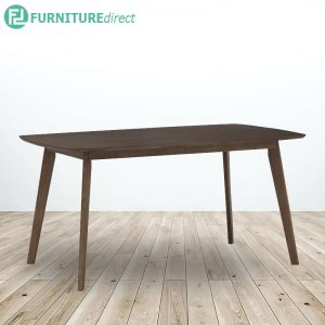 LEON solid wood dining table-Walnut