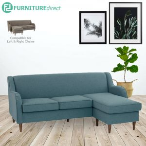 LUCIE 3 seater L shaped fabric sofa-Turquoise