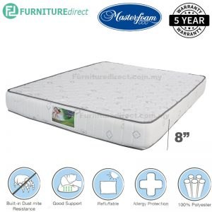 "MASTERFOAM sleep zee 8"" queen size foam mattress"