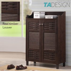 JAGODA timber louver shoe cabinet