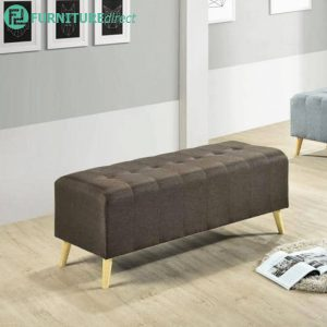 SOFIA 4 feet fabric bench chair-brown