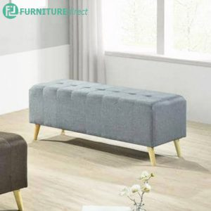 SOFIA 4 feet fabric bench chair-light grey