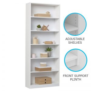 BILLY 6 Tier bookcase-white