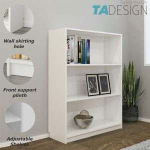 BILLY 3 Tier bookcase-white