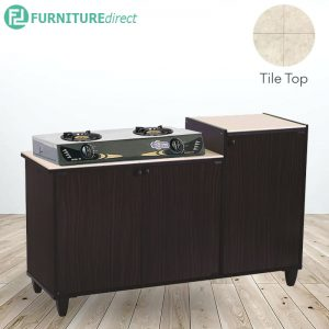 FRED tile top kitchen gas cabinet series-Cappucino