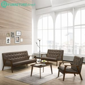 GARETH full solid wood sofa set with coffee table