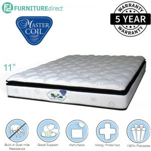 "MASTERCOIL Mycare 11"" pillow top foam mattress-4 sizes"
