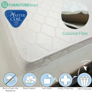 "MASTERFOAM 3000 single size 4"" and 6"" coconut fibre mattress"