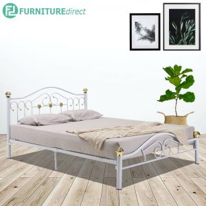 HALDEN queen size metal single bedframe