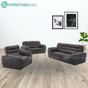 KENZO 1+2+3 seater fabric sofa-grey